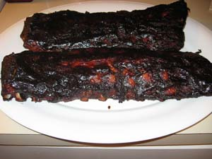 Smoked Baby Back Ribs - Plated