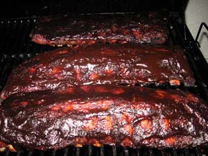 Smoked Baby Back Ribs - Apply Sauce