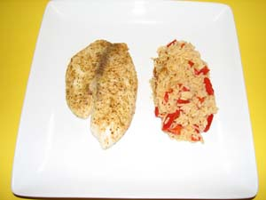 Baked Tilapia - Plated and ready to eat!