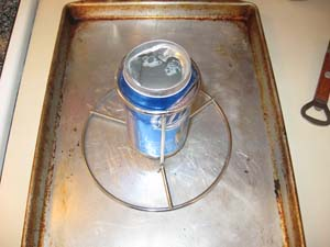 Beer Can Chicken - Open up the can