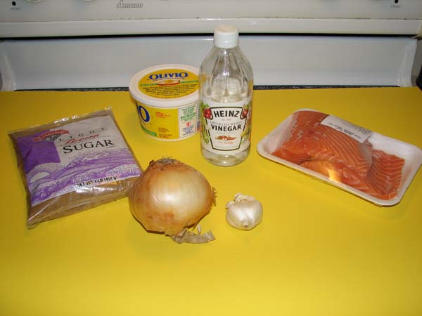 Candied Salmon - Ingredients