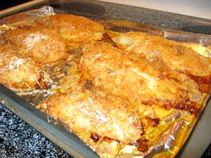 Baked Parmesan Crusted Catfish - Done