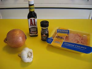 Chicken Burgers - Ingredients