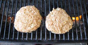Chicken Burgers - On the Grill
