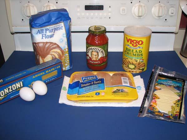 Chicken Parmesan - Ingredients