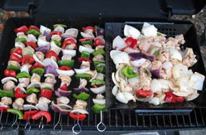 Chicken Shish Kabobs - Grill