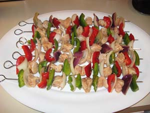 Chicken Shish Kabobs - Kabobed