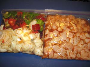 Chicken Shish Kabob - Marinating
