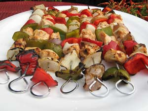 Chicken Shish Kabobs - Plated