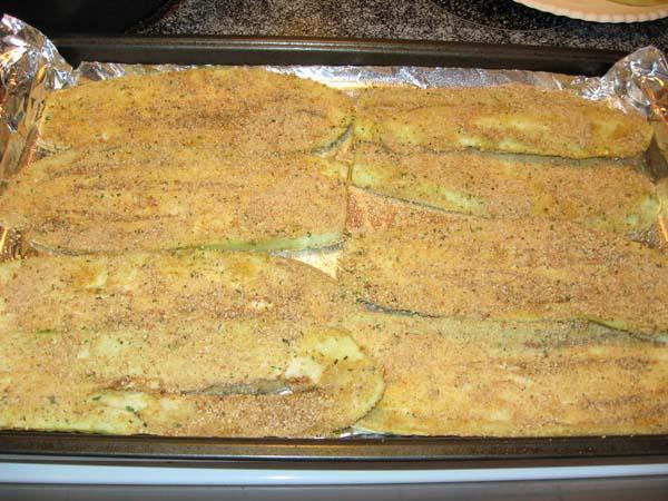 Eggplant Parmesan - Breaded