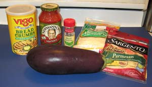 Eggplant Parmesan - Ingredients