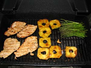 Grilled Hawaiian Pineapple Chicken - Grilling Chicken and Pineapple