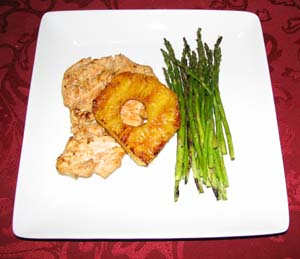Grilled Hawaiian Pineapple Chicken - Plated