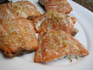 Grilled Salmon - Plated