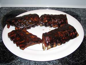 Baby Back Ribs - Plated and ready to eat!