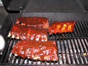Baby Back Ribs - Apply the sauce