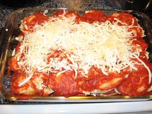 Sausage Stuffed Shells - Assembled