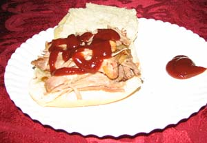 Slow Cooker Pulled Pork - Plated