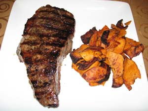 New York Strip Steak with Steak Rub - Plated