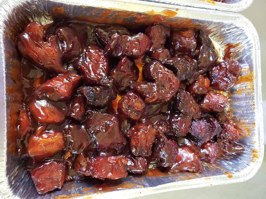 Burnt Ends Pork Shoulder Sauced Up